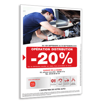Impression de flyers garage concessionnaire auto lavage for Garage auto distribution