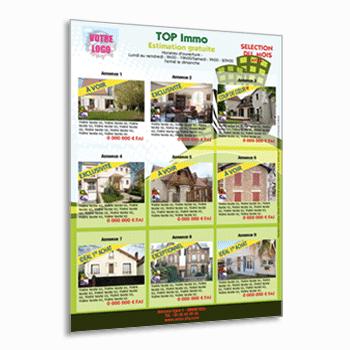 impression de flyers immobilier achat vente location sur top. Black Bedroom Furniture Sets. Home Design Ideas