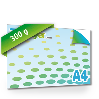 Personnaliser Flyer A4 Recto/Verso format Paysage 300g.