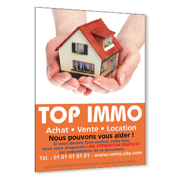 Impression de flyers immobilier achat vente location for Site immobilier vente