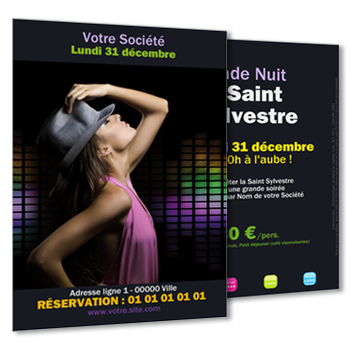 Personnaliser et commander Flyer Dancefloor, Ladies Night et autres Summer Night