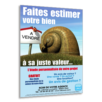 Personnaliser et commander Flyer estimation maison, terrain, appartement