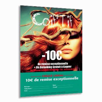 Flyer Avec La Photographie De Votre Salon De Coiffure