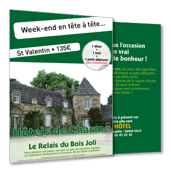 Personnaliser Flyer Week-end de charme au format A5 Recto-Verso