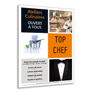 Personnaliser Flyer A5 Ateliers Culinaires TOP CHEF