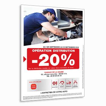 Impression de flyers garage concessionnaire auto lavage for Garage volkswagen flers