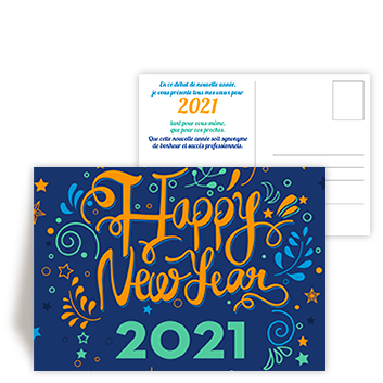 Personnaliser Carte postale New Year 2021