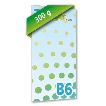 Personnaliser Flyer B6 Recto Portrait 300g