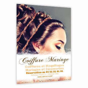 Audacieux Flyer coiffeur spécial coiffure mariage WK-35