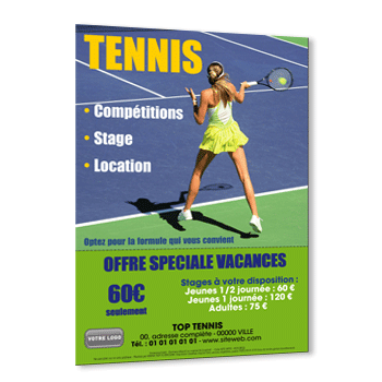 Personnaliser Flyer Tennis