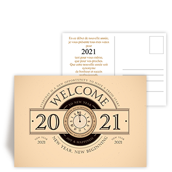Personnaliser Carte postale Happy New Year 2021