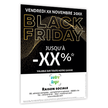Personnaliser Flyer black friday à personnaliser