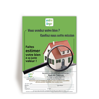 Personnaliser Flyer estimation bien immobilier en france
