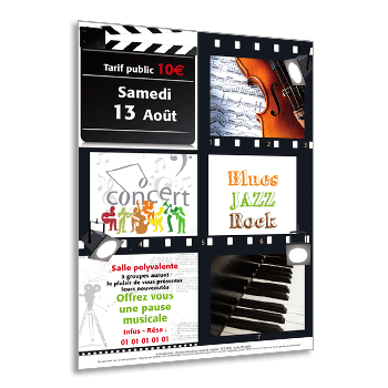 Personnaliser le flyer pour concerts de Jazz, Blues ou Rock