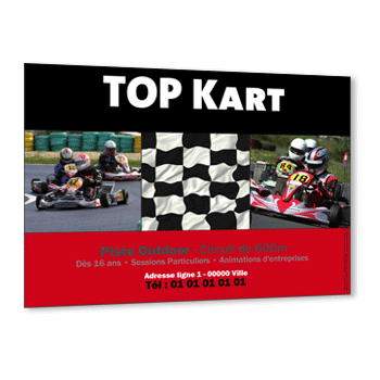Personnaliser Flyer Karting Indoor et Outdoor avec 3 photos