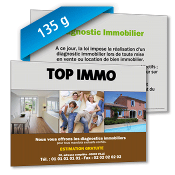 Personnaliser Flyer Diagnostic Immobilier - 135g