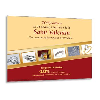 Personnaliser Flyer bijoux St Valentin A5 recto et 6 photos