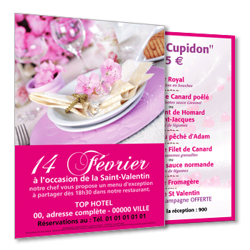 Personnaliser Flyer A5 Recto-Verso Menu