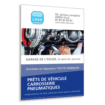Personnaliser Flyer garage carrosserie pneumatique