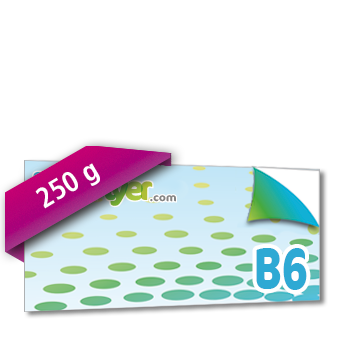 Personnaliser Flyer B6 Recto-Verso Paysage 250g