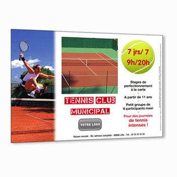 Flyer pour ecole de tennis for Cours de tennis en ligne