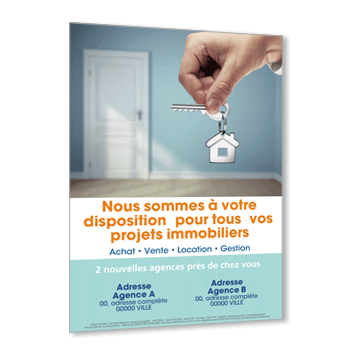 Flyer ouverture d agence immobili re for Agence immobiliere pour location appartement