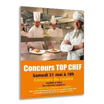 Personnaliser Flyer Concours TOP CHEF A5 Recto